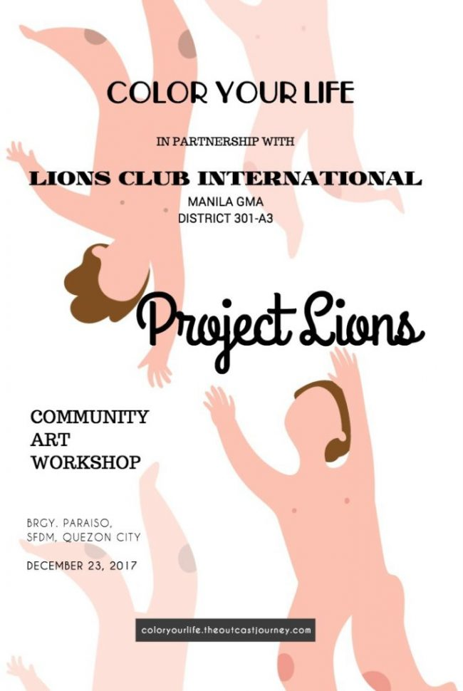 lions club international and color your life community art project for kids