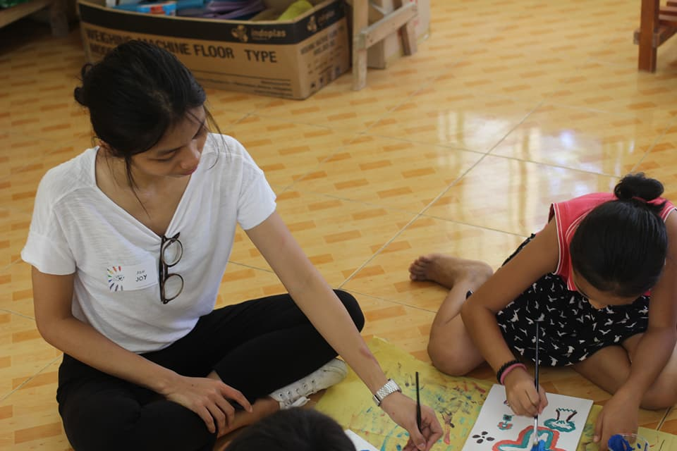 Color Your Life Painting activity for children in Padang Elementary School in San Gabriel La Union