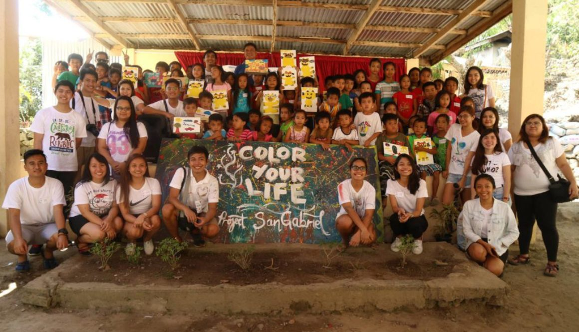 Color Your Life Painting activity for children in Padang Elementary School in San Gabriel La Union National Arts Month